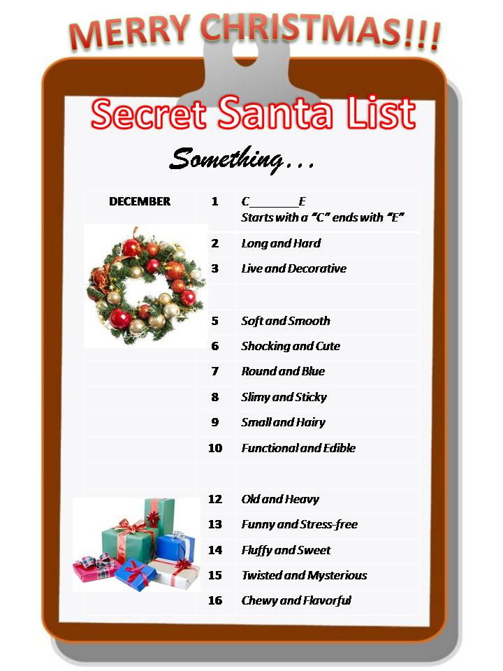 Secret Santa Sayings And Quotes
