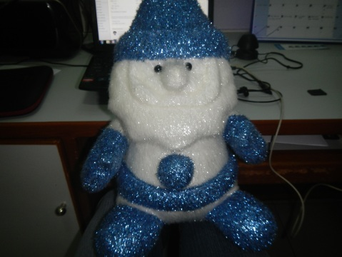 My Blue Santa Man